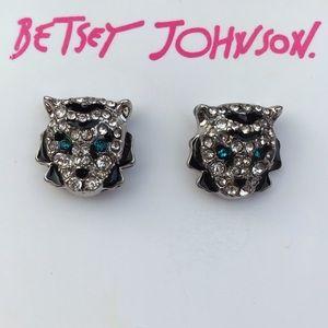 💜Vintage Betsey Johnson Leopard Earrings💜